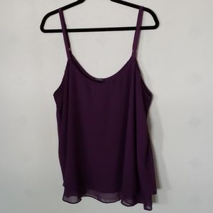 TORRID plum sheer layered tank top